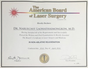 American Board of LASER surgery_Naruechit
